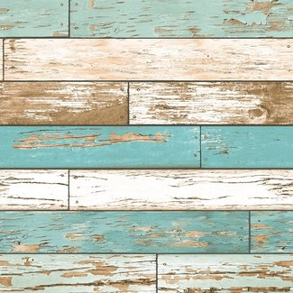Dutch Wallcoverings Trilogy Scrap wood  teal  - 22318