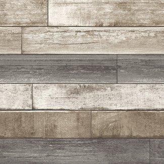Dutch Wallcoverings Trilogy Weathered Plank bruin/grijs - 22345
