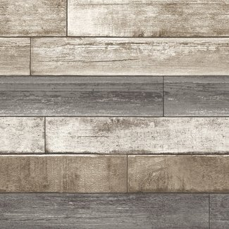 Dutch Wallcoverings Trilogy Weathered plank  taupe & grey  - 22345