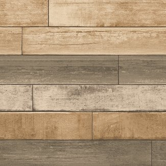 Dutch Wallcoverings Trilogy Weathered plank  pecan  - 22346
