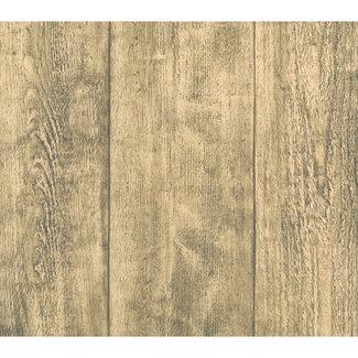Dutch Wallcoverings Vliesbehang hout beige - 7329-2