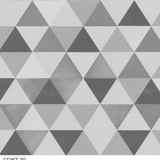 Dutch Wallcoverings Vliesbehang ruit zwart/grijs - 13267-30