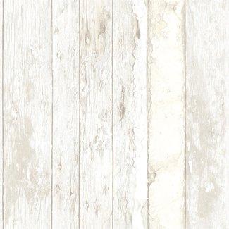 Dutch Wallcoverings Exposed sloophout beige - PE10030