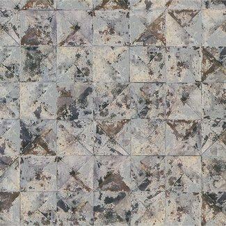 Dutch Wallcoverings Collage blok/driehoek zilver/beige - 42501-30