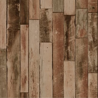 Dutch Wallcoverings Collage hout bruin - 42504-10
