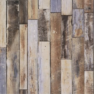 Dutch Wallcoverings Collage hout bruin/grijs - 42504-20