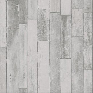Dutch Wallcoverings Collage hout wit - 42504-30