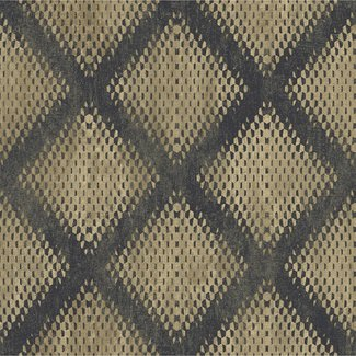 Dutch Wallcoverings Hexagone ruit zwart/goud - L600-02