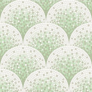 Dutch Wallcoverings Beaux arts 2 tile effect green - BA220045