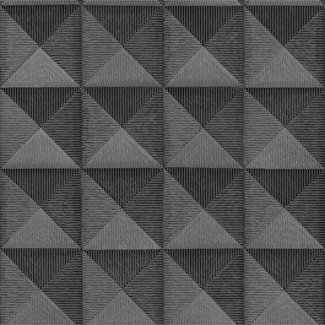 Dutch Wallcoverings Beaux arts 2 3d effect charcoal - BA220065