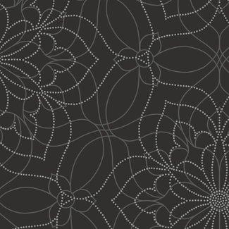 Dutch Wallcoverings Eclipse Venus zwart/zilver - 23846