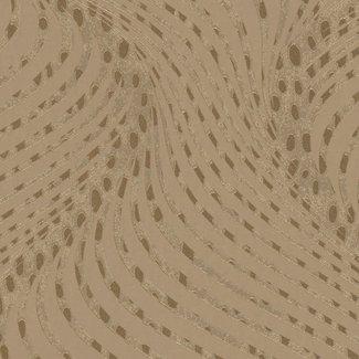 Dutch Wallcoverings La Veneziana 3 dessin bruin/goud - 57906