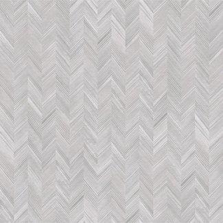 Dutch Wallcoverings Level One visgraat grijs - LV3103