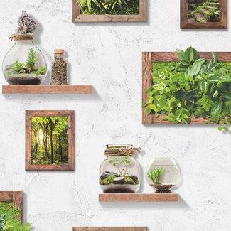 Dutch Wallcoverings Horizons muur/plantjes wit/groen - L570-04