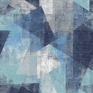 Dutch Wallcoverings Perspectives dessin blauw/grijs - PP3601