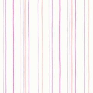 Dutch Wallcoverings Carousel streep lila/roze - 21130