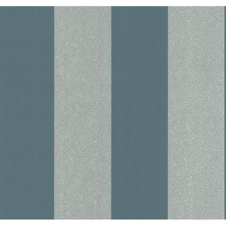 Dutch Wallcoverings Casual Chic streep turquoise/grijs - 13352-10