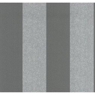 Dutch Wallcoverings Casual Chic streep bruin/grijs - 13352-60