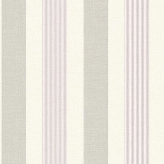 Dutch Wallcoverings Maison Chic streep ivoor/paars/grijs - 22029