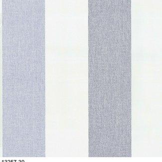 Dutch Wallcoverings Vliesbehang streep blauw/wit - 13257-30