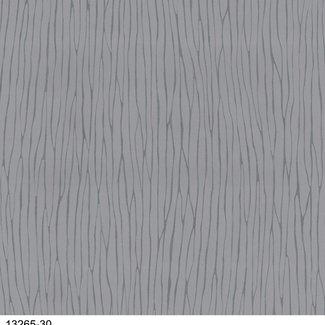 Dutch Wallcoverings Vliesbehang streep grijs/zilver - 13265-30