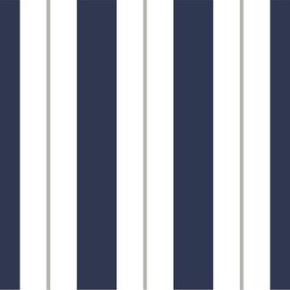 Dutch Wallcoverings Kingsly strepen blauw/wit/grijs - 72026