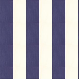 Dutch Wallcoverings Vliesbehang streep blauw/wit - 7318-5