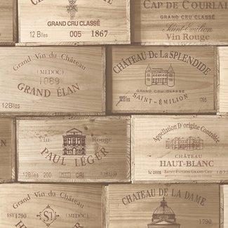 Dutch Wallcoverings Exposed wijnkisten beige - PE11011