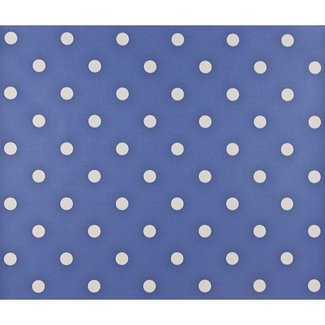 Dutch Wallcoverings Papier stippen blauw/wit - 1162-5