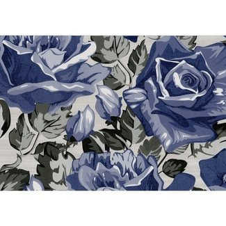 Dutch Wallcoverings San Priamo bloem lila/grijs - 3501-20