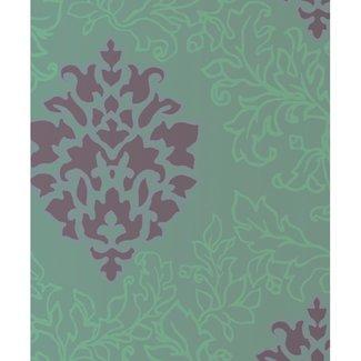 Dutch Wallcoverings Schuimvinyl damast bruin - 6827-1