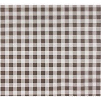 Dutch Wallcoverings Papier ruitje bruin/wit - 1199-2