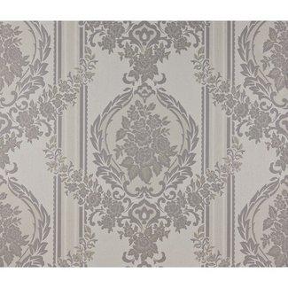 Dutch Wallcoverings Schuimvinyl ornament grijs - 6850-7