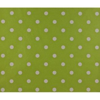 Dutch Wallcoverings Papier stippen groen/wit - 1162-3