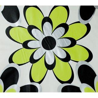 Dutch Wallcoverings Behang bloem groen/zw/zilver - 1196-3
