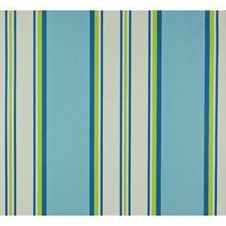 Dutch Wallcoverings Papier streep blauw/groen/wit - 1198-3