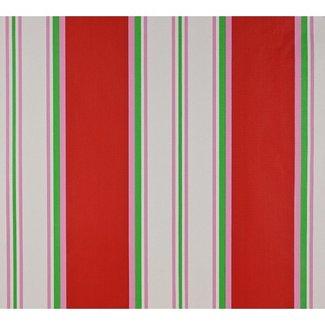 Dutch Wallcoverings Papier streep rood/roze/groen - 1198-4