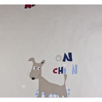 Dutch Wallcoverings Papier hondje blauw - 1217-5
