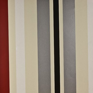 Dutch Wallcoverings Be Yourself streep creme/rood/zwart - 16040