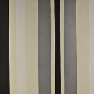 Dutch Wallcoverings Be Yourself streep creme/zwart - 16041