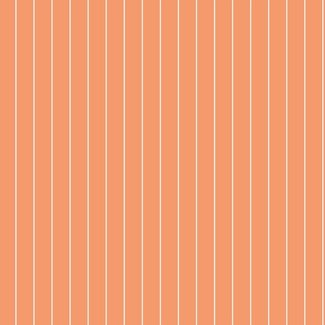 Dutch Wallcoverings Hoopla streep oranje/wit - 30737