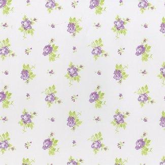 Dutch Wallcoverings Hoopla roosjes lila - 30727