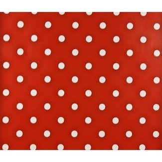 Dutch Wallcoverings Papier stippen rood/wit - 1162-4