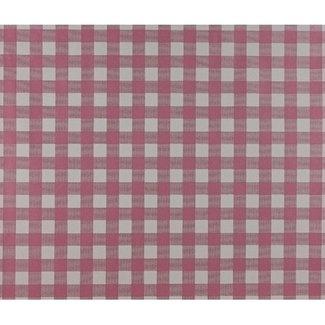Dutch Wallcoverings Papier ruitje fuchsia/wit - 1163-6