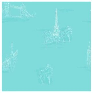 Dutch Wallcoverings Hoopla steden turquoise - 30716