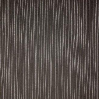 Dutch Wallcoverings Premium streepje zwart/zilver - 23933