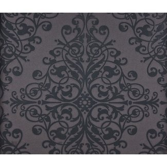 Dutch Wallcoverings Schuimvinyl ornament zwart - 6835-7