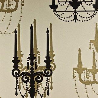 Dutch Wallcoverings Be Yourself kandelaar goud/zwart - 16030