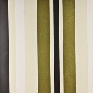 Dutch Wallcoverings Be Yourself streep creme/goud/zwart - 16042