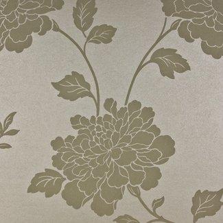 Dutch Wallcoverings Premium bloem beige - 58463